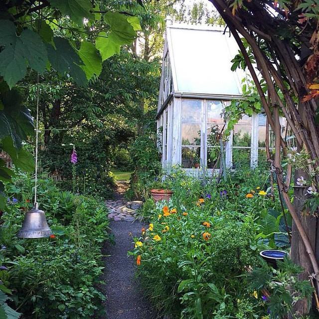 Lối đi thơ mộng trong khu vườn rộn ràng bình yên.