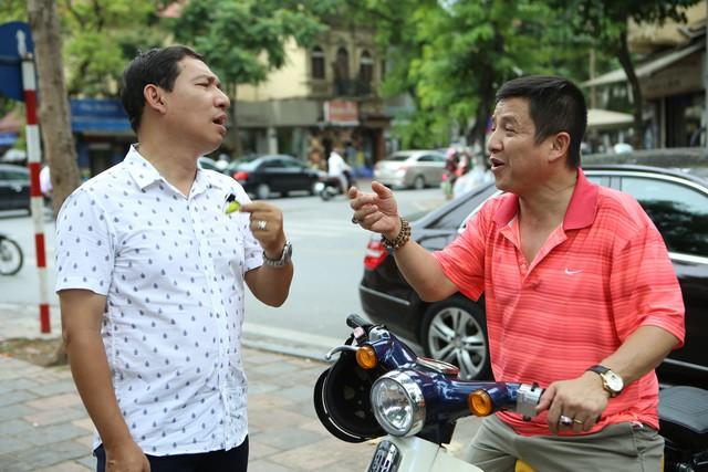 """Các nghệ sĩ Quang Thắng và Chí Trung trong phim """"Yêu thì ghét thôi"""" (ảnh VTV cung cấp)."""