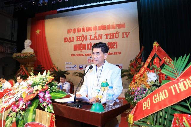 Ông Lê Văn Tiến (Chủ tịch Hiệp hội Vận tải hàng hóa đường bộ Hải Phòng).