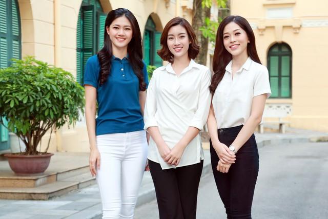 Hoa hậu Đỗ Mỹ Linh và hai Á hậu tham gia buổi thiện nguyện