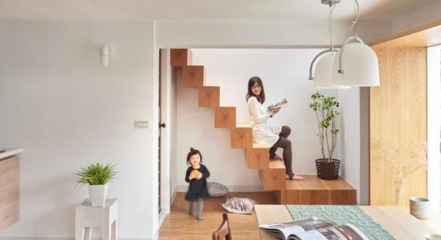 Ngôi nhà là tổ ấm của một gia đình trẻ 4 người.