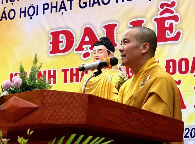 Đại đức Thích Thanh Lương- người có công lớn trong việc tu bổ, tôn tạo và hướng dẫn Phật tử thực hành đạo tràng ở chùa Vinh Quang