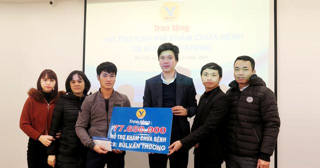 Số tiền đợt 1 trao cho gia đình anh Thương của bên Medlatec Group