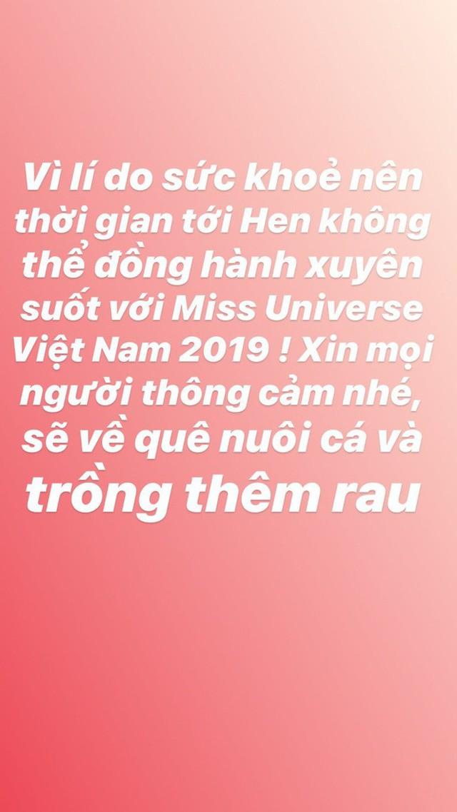 HHen Niê đột ngột tuyên bố dừng đồng hành với Hoa hậu Hoàn vũ Việt Nam 2019 - Ảnh 1.
