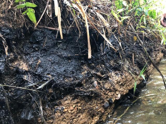 Cận cảnh nhiều mảng bám giống dầu nhớt quyện trong dòng nước dẫn vào nhà máy nước sông Đà - Ảnh 9.