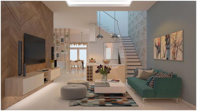 Căn biệt thự mini 3 tầng quá đỗi đáng yêu nhờ cách sắp xếp nội thất - Ảnh 1.