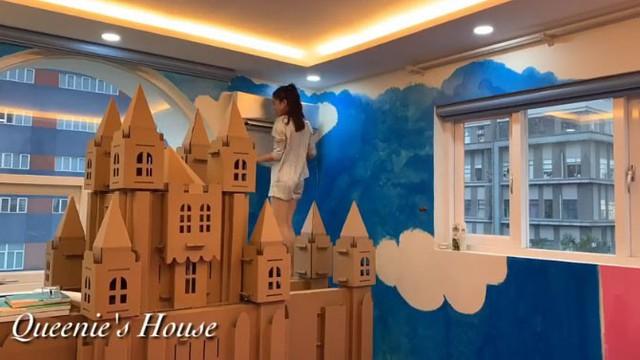 Diễn viên Vân Trang tự tay biến phòng con gái thành một căn phòng như bước ra từ truyện cổ tích mà bất cứ bố mẹ nào cũng phải ngưỡng mộ - Ảnh 9.