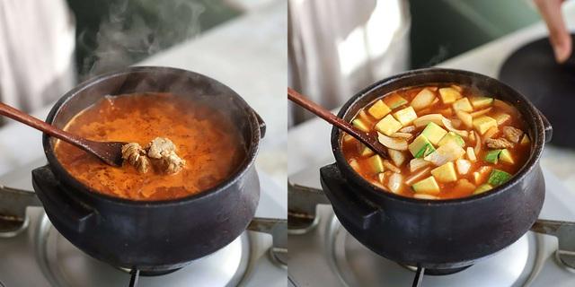 Học người Hàn nấu món canh thịt, ăn vào tiết trời mùa đông là ngon số 1! - Ảnh 4.