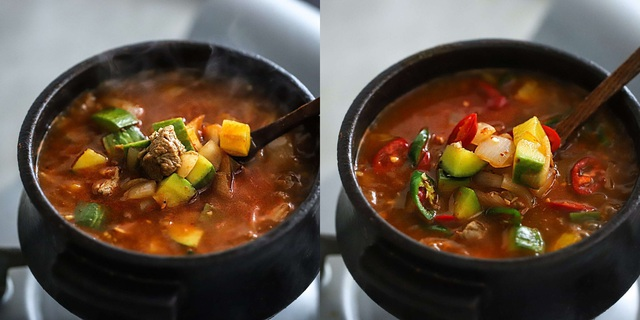 Học người Hàn nấu món canh thịt, ăn vào tiết trời mùa đông là ngon số 1! - Ảnh 5.