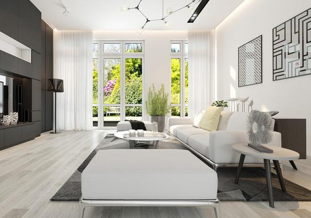 Sử dụng nội thất màu tương phản đen trắng đem lại hiệu ứng bất ngờ cho ngôi nhà phố - Ảnh 1.