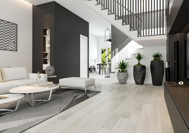 Sử dụng nội thất màu tương phản đen trắng đem lại hiệu ứng bất ngờ cho ngôi nhà phố - Ảnh 2.