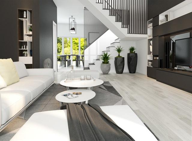 Sử dụng nội thất màu tương phản đen trắng đem lại hiệu ứng bất ngờ cho ngôi nhà phố - Ảnh 3.