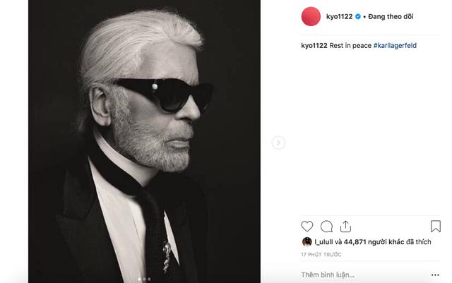 Song Hye Kyo bày tỏ sự tiếc thương đối với huyền thoại Karl Lagerfeld