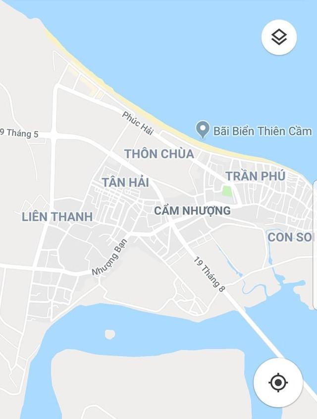 Bãi biển Cửa Nhượng nơi hai cha con ông Lý gặp nạn.
