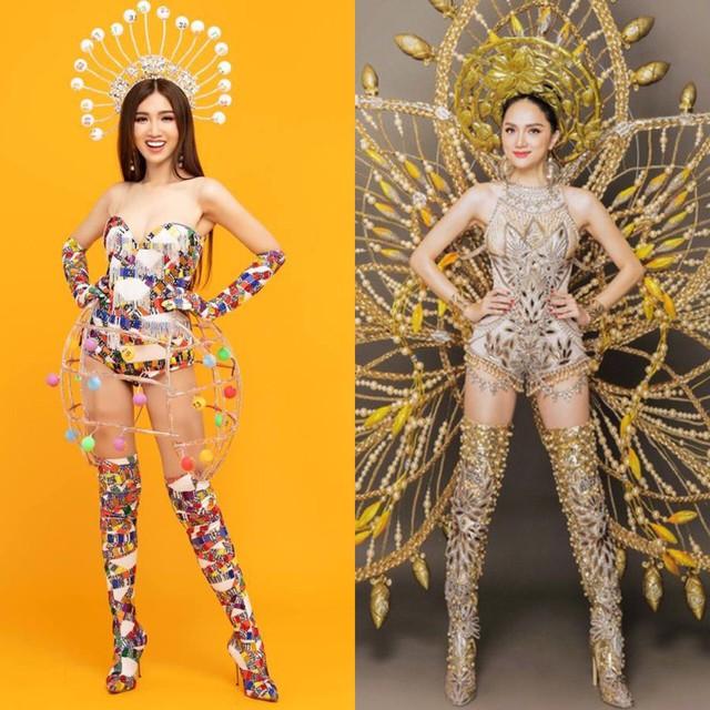 Trang phục truyền thống được Hương Giang và Nhật Hà lựa chọn dự thi MIQ
