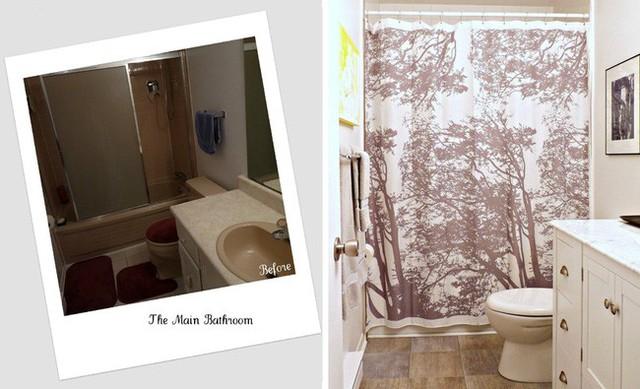 Không gian tắm táp được cải tạo rộng hơn nhiều so với cách bố trí cũ.
