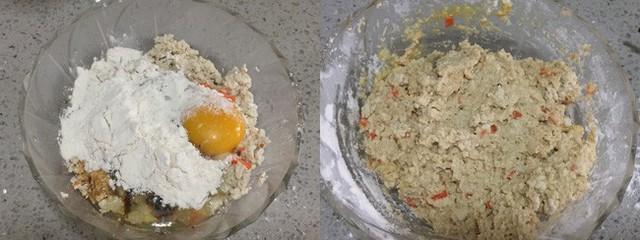 Viên bột đã trộn thành từng viên tròn nhỏ rồi cho vào nồi hấp, hấp chín khoảng 7-8 phút.