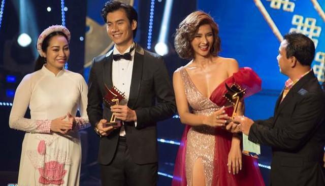 Nhan Phúc Vinh và Kim Tuyến nhận giải Cánh Diều Vàng.