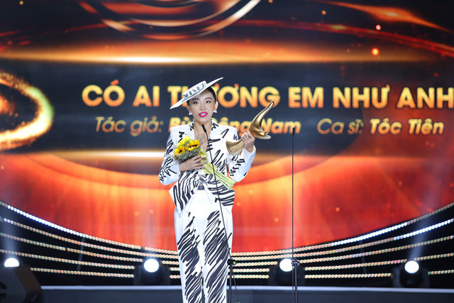 Ca sĩ Tóc Tiên hạnh phúc với giải thưởng Bài hát của năm