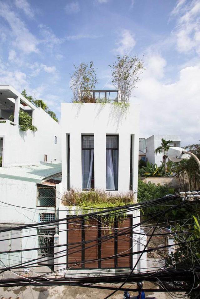 Ngôi nhà với thiết kế mặt tiền đặc biệt.