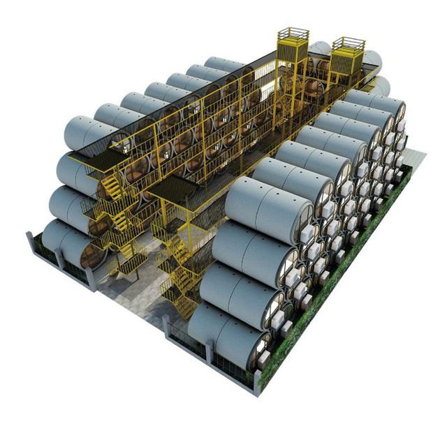 Mỗi ống bê tông là một ngôi nhà nhỏ được trang bị bên trong một ống nước bê tông rộng 2,5 m, với không gian bên trong là 9,29 m2.