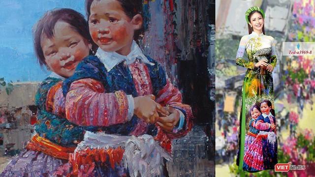Tác phẩm của họa sĩ Ngụy Đình Hà bị in lên áo dài của Công ty Phương Mai