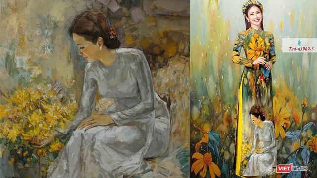 Công ty Phương Mai tự ý sử dụng tranh của họa sĩ Lâm Đức Mạnh để in lên áo dài