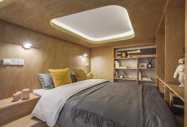 Hộp ngủ về cơ bản là một phòng ngủ nhỏ, có giường, đầu giường, kệ lưu trữ và tất cả các tính năng cơ bản.