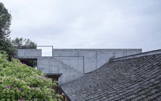 Trần cũng được thiết kế cầu thang bên ngoài để mọi người ngắm cảnh xung quanh nhà.