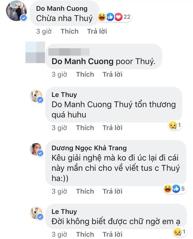 """NTK Đỗ Mạnh Cường nhắc nhở Lê Thúy từ sau nên """"chừa''."""