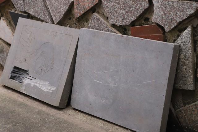 Sản phẩm đá thô đã qua tạo khối được nghệ nhân Triệu Hoàng Giang lấy từ núi Nhồi, Thanh Hoá.