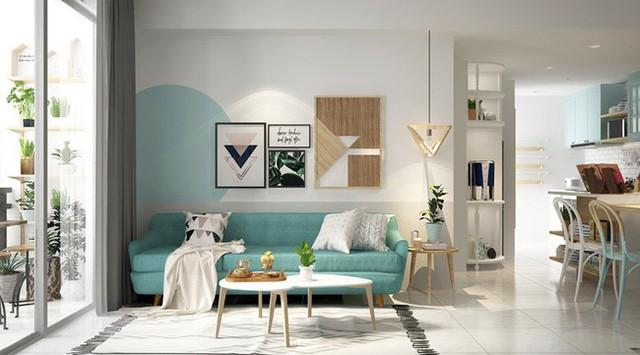 Ghế sofa khung gỗ khiến bạn cảm giác như đang gần chạm tay vào màu nước biển của khu vực nhiệt đới.