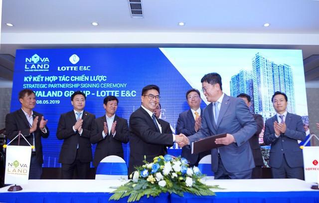 Lotte E&C trở thành Nhà thầu thi công chính cho 3 dự án căn hộ cao cấp do Novaland phát triển