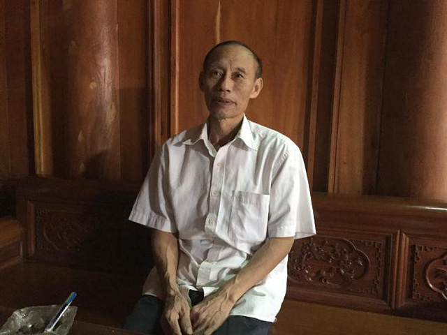 Lão nông Nguyễn Quang Học (63 tuổi) ở xã Hạ Bằng, huyện Thạch Thất, TP. Hà Nội.