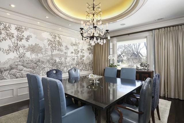 Hình ảnh hay họa tiết được sử dụng trong những căn phòng ăn luôn theo màu sắc nền nã, nhẹ nhàng.
