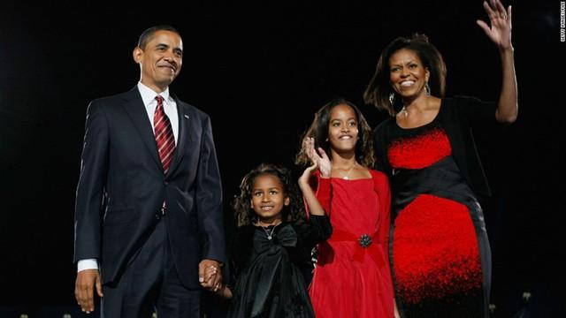 Hình ảnh con gái Obama lúc còn nhỏ.