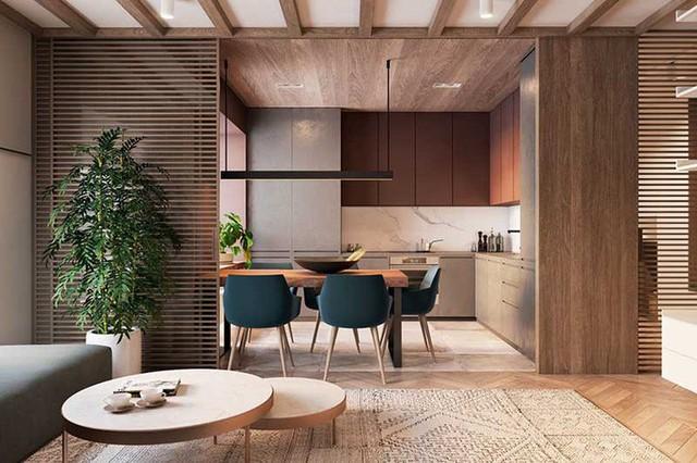 Bên cạnh đó, chất liệu truyền thống như gỗ và da cũng được nhiều gia đình sử dụng trong căn bếp của mình.