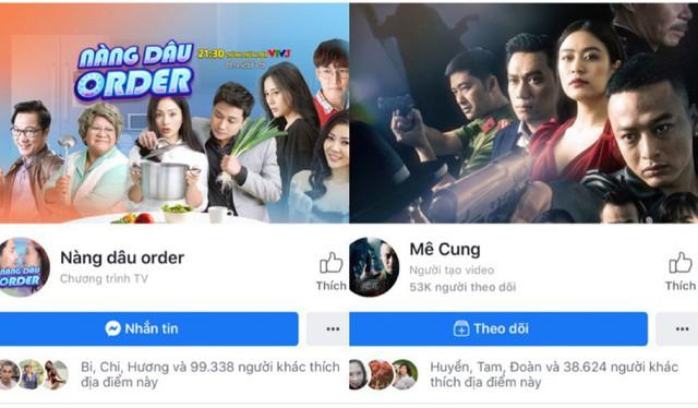 Lượng theo dõi fanpage của 2 phim giờ vàng VTV3