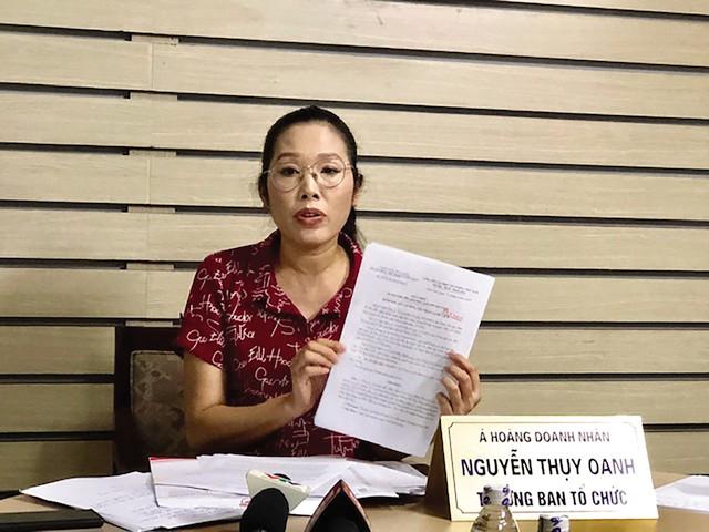 Bà Nguyễn Thụy Oanh - Trưởng BTC chương trình Tôn vinh Nữ hoàng thương hiệu Việt Nam. Ảnh: PV