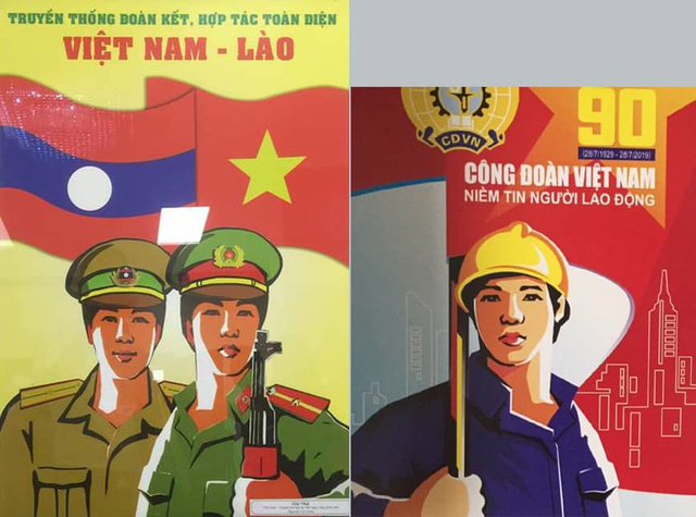 Giải đặc biệt bị tố sao chép tác phẩm đoạt giải nhất cuộc thi vẽ tranh cổ động Hữu nghị Việt Nam- Lào- Campuchia