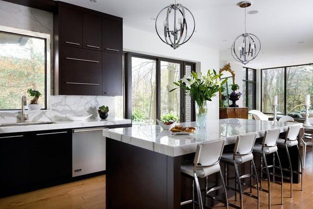 Muốn nhà bếp vừa đẹp vừa sang thì chọn ngay chất liệu đá cẩm thạch - Ảnh 10.
