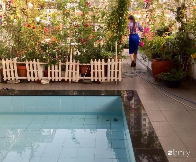 Khu vườn 30m² muôn hoa đua nở trên sân thượng của mẹ đảm thích mộng mơ ở TP. HCM - Ảnh 26.