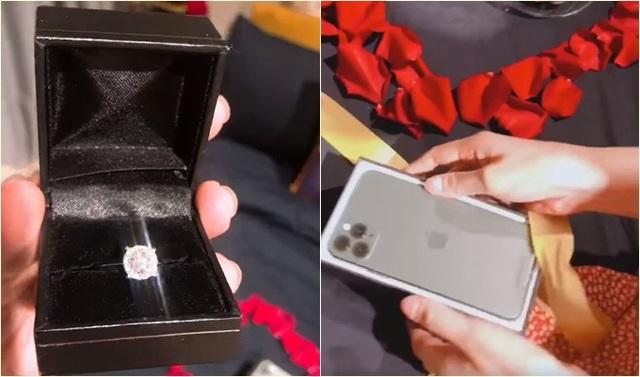 Lê Thúy được chồng tặng nhẫn kim cương - Ảnh 1.