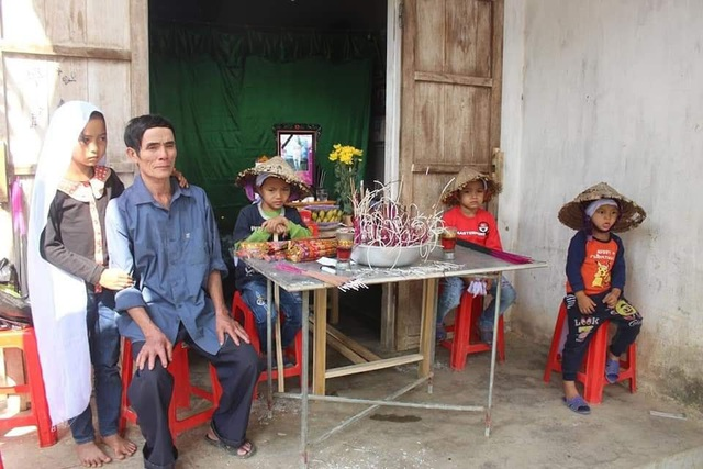 Đau lòng 4 đứa trẻ mất bố khi cận Tết, mẹ đang bị bệnh nặng - Ảnh 2.