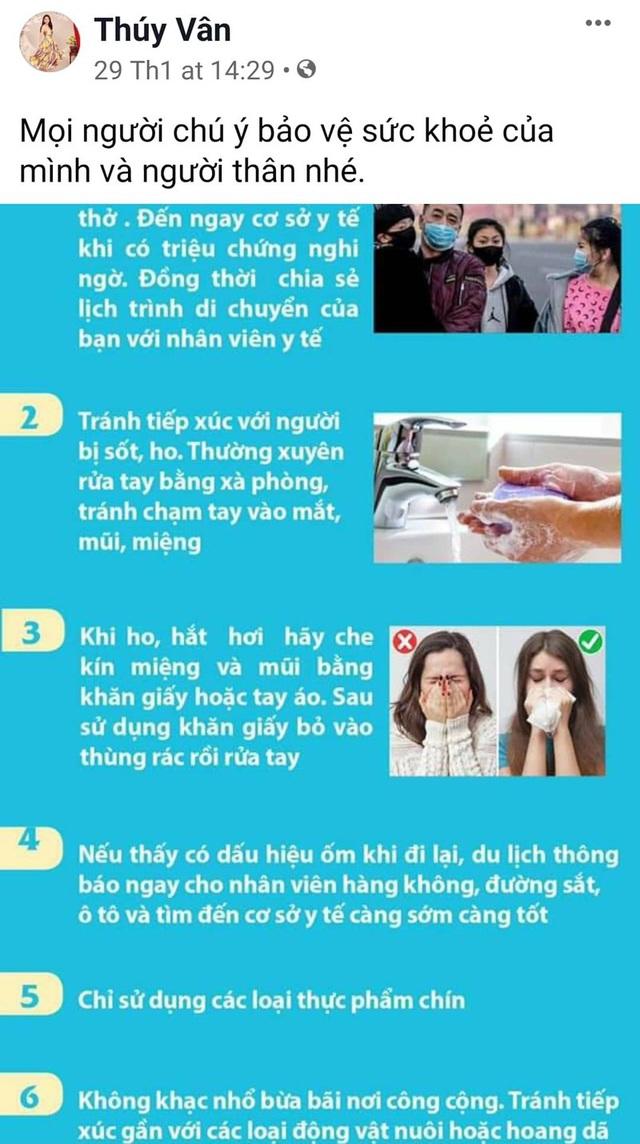 Bảo Thanh, Phan Anh và nhiều Hoa hậu chia sẻ cách phòng chống dịch virus corona - Ảnh 4.