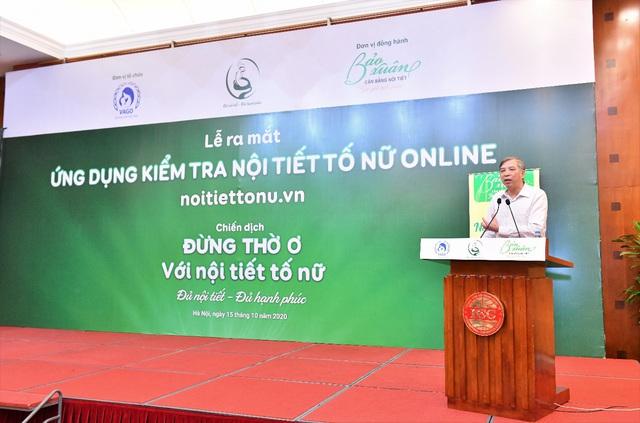 PGS. TS Vũ Bá Quyết, Nguyên Giám đốc Bệnh viện Phụ sản Trung ương, Phó Chủ tịch Hội Phụ sản Việt Nam phát biểu