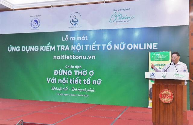 GS. TS Nguyễn Viết Tiến, Nguyên Thứ trưởng Bộ Y tế, Chủ tịch Hội Phụ sản Việt Nam phát biểu