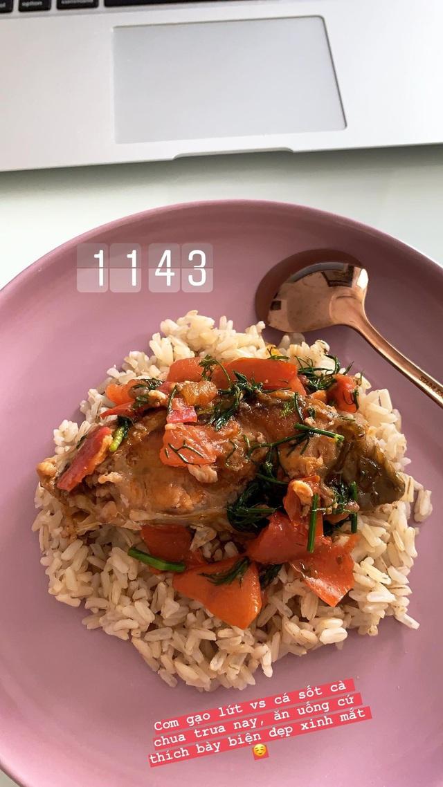 Bạn gái tin đồn của em chồng Hà Tăng chăm ăn Eat Clean - Ảnh 7.