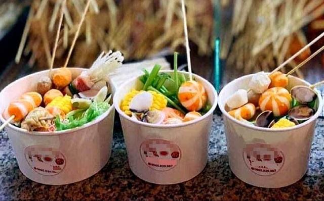 Chớm lạnh, lẩu ly hải sản giá 13.000 đồng lên cơn sốt - Ảnh 2.