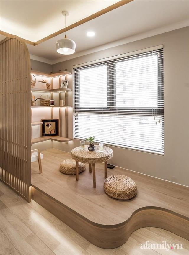 Căn hộ 75m² ghi điểm với thiết kế phong cách Nhật tinh tế có chi phí hoàn thiện 400 triệu đồng ở Sài Gòn - Ảnh 16.